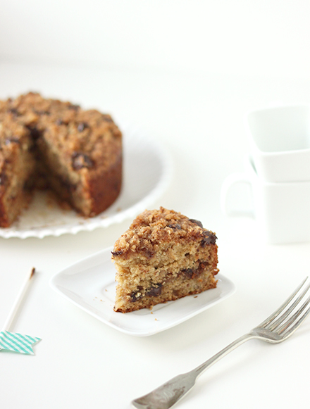 Chocolate Chip Banana Coffee Cake